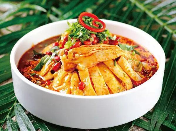 """辛香汇名菜钵钵鸡,""""凉拌瓦块鸡""""的辛香汇版本 有效期至:2015年12月31日 www.5ikfc.com"""